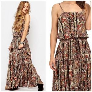 Free People Valerie Floral Blouson Maxi Dress